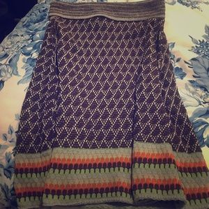 Liamolly Knit Skirt Anthropologie M